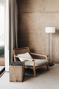 Reading chair and floor lamp