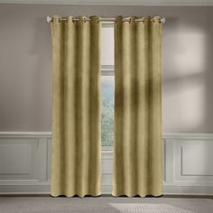 Veratex American Collection Velvet Soft Luxury Curtain, Green