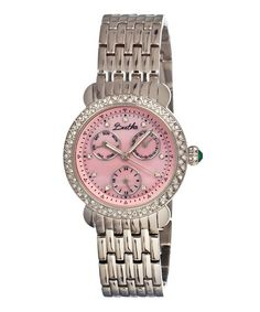 Another great find on #zulily! Silver & Pink Daniella Watch by Bertha #zulilyfinds (I'm crying here!!!)