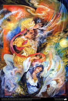 El manipulador. 1988. Obras maestras de la miniatura persa; Artista Profesor Mahmud Farshchian, Irán