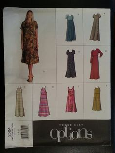 Vogue Easy Options 2524 Misses Pullover by Noahslady4Patterns