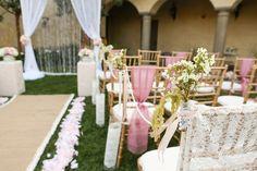 Pink, lace, & burlap wedding theme     julie irene photography