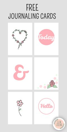 Free Roses Journaling Cards from Clear Colours