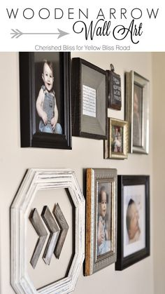 Wooden Arrow Wall Art and gallery wall