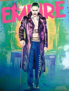 Jared Leto & Cara Delevingne: More 'Suicide Squad' Covers!: Photo Jared Leto is showing off his Joker abs once again on this alternate cover for the Suicide Squad Empire magazine spread! The actor is not the only… Jared Leto Joker, Cara Delevingne, Harley Quinn Et Le Joker, Margot Robbie Harley Quinn, Joker Batman, Gotham City, Cover Design, Arley Queen, Dc Comics