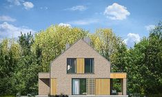 Projekt domu Rumba 130,27 m2 - koszt budowy 192 tys. zł - EXTRADOM Facade House, Samba, Home Fashion, Cabin, House Styles, Modern, Home Decor, Trendy Tree, Decoration Home