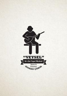 """""""Veysel"""" Aşık Veysel Müzikal Posteri by Selahattin Birgül, via Behance"""