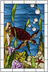 sea turtle stained glass pattern - Google Search