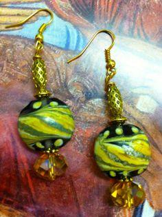 2014 GOLD SAND Earrings by Armida's Jewels by ArMidasJewels, $33.00