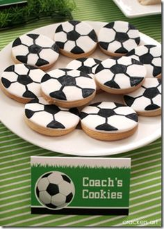 soccer cut-out cookies