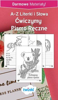 Zestaw arkuszy ćwiczeń dla dzieci uczących się pisać - szablony z kolorowankami, literkami i słowami, które pomogą połączyć przyjemne z pożytecznym! #ćwiczenie #literki #alfabet #litery #pisanie #kolorowanka #kolorowanie #kredki #rysowanie #pismo #ręczne #ćwiczymy #litery #słowa #nauka #przedszkole #szkoła #dzieci #druk #polish #poland #polska #tracing #letters #letter #alphabet #formation #english #twinkl #worksheet Curriculum, Language, Teacher, Resume, Professor, Teaching Plan, Teachers, Languages, Language Arts