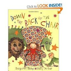 'Down the Back of the Chair' by Margaret Mahy (Author), Polly Dunbar ( illustrator). Very cool, for children with surreal sense of humour. Hans Christian, Margaret Mahy, Kinds Of Reading, Lions, Illustration, Chair, Fun, 28 April, Car Keys