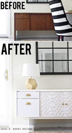 Retro Furniture Makeover Diy Paint 68 Ideas For 2019 Retro Furniture, Refurbished Furniture, Repurposed Furniture, Furniture Projects, Furniture Makeover, Home Furniture, Furniture Design, Painted Furniture, Custom Furniture