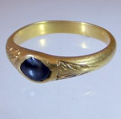 Alex's ring, gold with a cabochon sapphire. One Thousand, Knight, Sapphire, Wedding Rings, Product Description, Engagement Rings, Summer, Gold, Jewelry