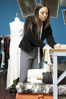 Learn Dressmaking and Design. Train online with Penn Foster Career School. Learn To Sew, Dressmaking, The Fosters, Leather Jacket, Sewing, Career, Bucket, Quilt, Train