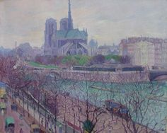 Abel George Warshawsky - Notre Dame from the Seine