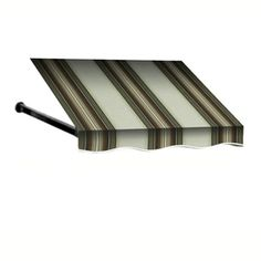 Awntech 5-ft 4-1/2-in Wide x 4-ft Projection Taupe Multi Striped Open Slope Window/Door Awning