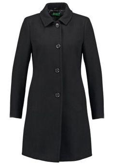 Manteaux en laine Benetton Manteau classique - black noir: 90,00 € chez Zalando (au 16/09/15). Livraison et retours gratuits et service client gratuit au 0800 740 357.