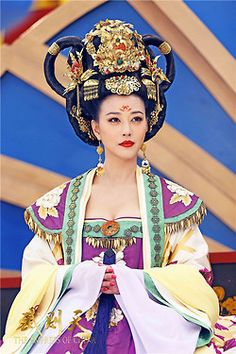 Costume from a Period Drama about Wu Zetian, the Only Empress in China from the Early Tang Dynasty.