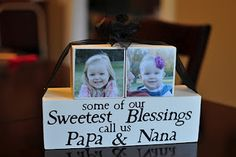 Diy Christmas Art, Homemade Christmas Gifts, Xmas, Grandparent Photo, Grandparent Gifts, Vintage Suitcase Wedding, Baby Announcement Pictures, Minnie Mouse Mug, New Grandparents