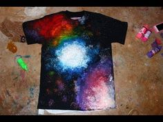 ▶ EASY DIY Galaxy Shirt - YouTube