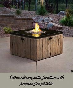 Head To The Webpage Learn More On Patio Furniture With Propane Fire Pit