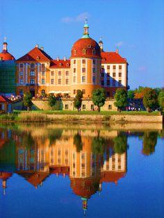 Jagdschloß Moritzburg, Dresden, Sachsen, Deutschland