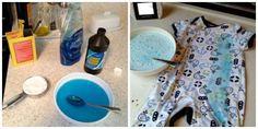 Nettoyez les taches tenaces avec un mélange de liquide vaisselle et lessive