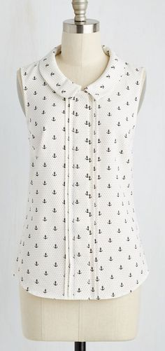 Profesh of Both Worlds Top in Ivory Anchors