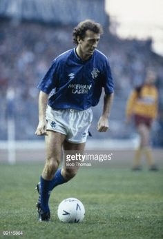 News Photo : Trevor Francis in action for Glasgow Rangers...