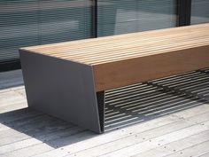 BLOCQ Backless Bench by mmcité 1 design David Karásek, Radek Hegmon Cheap Patio Furniture, Urban Furniture, Street Furniture, Retro Furniture, Industrial Furniture, Furniture Makeover, Painted Furniture, Diy Furniture, Furniture Design