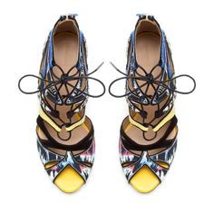 THESE ARE HOTT! Image 2 of MULTICOLORED LACE-UP SANDAL from Zara