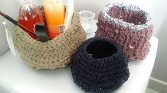 #recyclagevieux teeshirt #recycledteeshirt #crochet #panierau crochet
