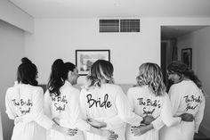 bride's squad bridesmaid robes