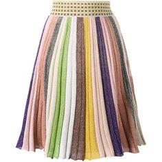 Missoni - stripe rainbow skirt - women -... (€945) ❤ liked on Polyvore featuring skirts, bottoms, viscose skirt, missoni skirts, rainbow striped skirt, colorful skirts and silk skirt