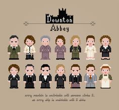 Downton Abbey - PixelPower - Amazing Cross-Stitch Patterns http://www.pixelpowerdesign.com/shop/tv/product/show/392-downton-abbey
