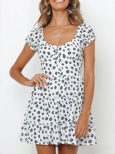 Get Discount $6 OFF Over $59, $10 OFF Over $89, $25 OFF Over $159 #Womensdresses #womendresses #womenapparel #womensclothing #womensclothes #fashion #onlineshop #onlineshopping #bigdiscount #shopnow #DiscountSale #discountprices #discountstore #discountclothing #fashionista #fashionable #fashionstyle #fashionpost #fashionlover #fashiondesign #fashionkids #fashiondaily #fashionstylist #fashiongirl Summer Fashion Outfits, Casual Outfits, Day Dresses, Summer Dresses, Collar Styles, Vintage Style Outfits, Printed Cotton, Short Sleeve Dresses, Short Sleeves