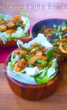 Shrimp Fajita Bowls.
