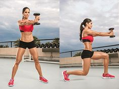 Hardcore Waist Whittlers - Show off your six-pack and send your metabolism soaring with this serious ab routine, demonstrated by IFBB bikini pro Michelle Lewin Lose Fat Workout, Waist Workout, Belly Fat Workout, Killer Workouts, Toning Workouts, Easy Workouts, Core Exercises, Michelle Lewin Workout, Fitness Motivation