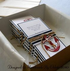 Nautical Theme Birthday Invitation by handmadebyodette - Cards and Paper Crafts at Splitcoaststampers