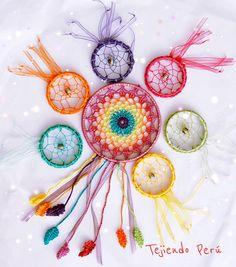 Dream catcher o atrapasueños tejidos a #crochet!  Grandes y pequeños :)   Vídeo tutorial del paso a paso! #dreamcatcher #atrapasueños