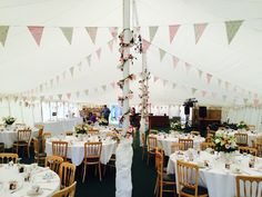 Beautiful marquee wedding with bunting by Tickety Boo Bunting #bunting #marquee #wedding #vintage