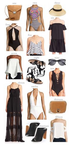 HelloFashionBlog: An amazing list of pieces you need this summer! From swimsuits, sandals, beach hats and the perfect off the shoulder tops!