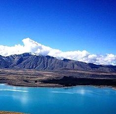 ニュージーランドのテカポ湖。青かった~! #his_blue