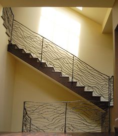 forged steel stair railing.