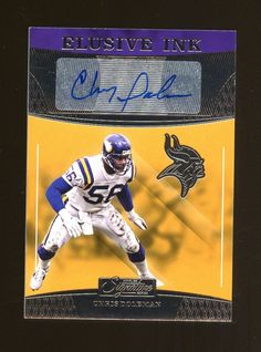 34acc4a3595 2016 Donruss Signature Series Elusive Ink Chris Doleman AUTO Minnesota  Vikings #FootballCards Chris Doleman,