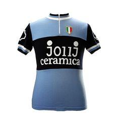 JollJ Ceramica Team 1976 short sleeve cycling jersey Cycling Art ef0fa39e6