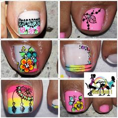 Fancy Nails Designs, Toe Nail Designs, Toe Nails, Coffin Nails, Pin On, Nail Art, Pretty, Instagram Posts, Manicure Ideas