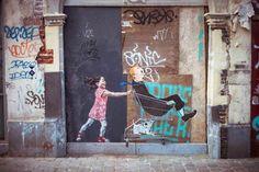 Le Street Art poétique et amusant d'Ernest Zacharevic (image)