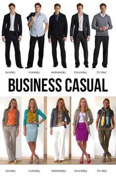 adea599705e Business Casual Attire 5 Days a Week Business Fashion
